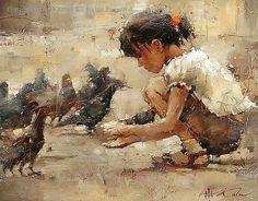 Andre Kohn Oil | Saint Mark's Square - Oil by Andre Kohn