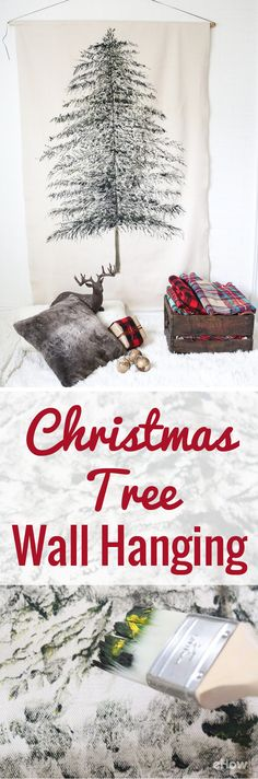 Deck your walls with this fun and whimsical take on a traditional Christmas tree! It adds warmth and texture to an empty wall, and it's a festive alternative to an actual tree for small spaces. Made from a simple drop cloth, this wall hanging will bring joy and good cheer to your home year after year. DIY here: http://www.ehow.com/how_12343003_create-festive-christmas-tree-wall-hanging.html?utm_source=pinterest.com&utm_medium=referral&utm_content=freestyle&utm_campaign=fanpage