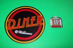 On Sale... DINER By WILLIAMS 1990 NOS ORIGINAL PINBALL MACHINE PLASTIC PROMO SET