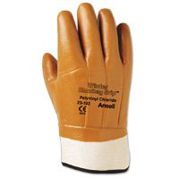 12 HEAVY DUTY BROWN JERSEY WORK GLOVES trapping snares duke NEW SALE