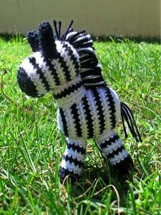 zebra tejida a crochet