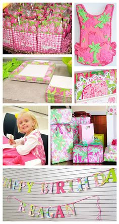 Lilly Pulitzer birthday party & her name is Reagan. So perfect!