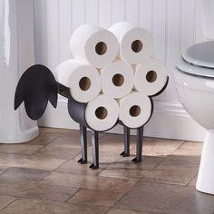Estantería papel WC con diseño de oveja