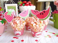 great idea--cupcake wrappers inside clear cups