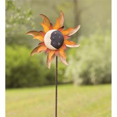 Metal Moon And Sun Garden Wind Spinner in New for Winter