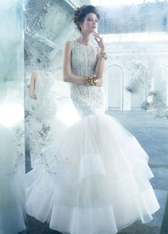 Lazaro Bridal Gowns, Wedding Dresses Style LZ3301 by JLM Couture, Inc.