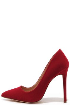 Ladies First Red Suede Pointed Pumps at Lulus.com!