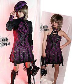 New VISUAL KEI PUNK Rave Gothic KERA Lolita Kimono Dress NANA freeship Q086BV