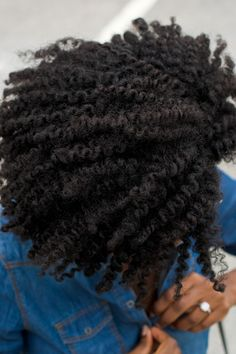 My hair looks like this after a twist out now I just need them to get this thick!!!