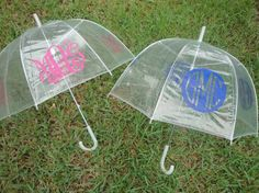 Personalized Monogram Clear Dome Umbrella by paisleynpolkadots, $ 20.00- ahh I want this!
