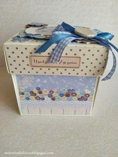 Mój świat kolorów...: Urodzinowy box i zabawa cz2.. Exploding Boxes, Decoupage, Decorative Boxes, Gift Wrapping, Gifts, Home Decor, Paper Wrapping, Presents, Decoration Home