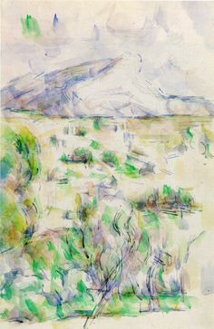 Mont Sainte-victoire Seen From Les Lauves Artwork By Paul Cezanne Oil Painting & Art Prints On Canvas For Sale Paul Cezanne Paintings, Pierre Auguste Renoir, Edouard Manet, Paul Gauguin, Art Database, Oil Painting Reproductions, Still Life Photography, Art Plastique, Art World