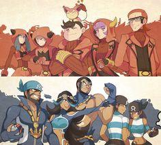 Team Magma and Team Aqua (Pokemon ORAS) #Pokemon #Nintendo