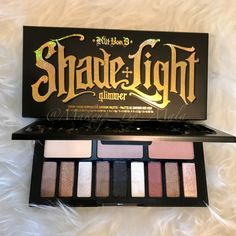 SWATCHES!!! Kat Von D Shade & Light Glimmer palette!!  These are finger swatches done on bare skin, shown in both in…