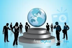 Business People Around Globe See, what I mean? Internet Marketing, Snow Globes, World, Business, People, Online Marketing, Store, The World, Business Illustration