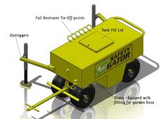AES Raptor • Safety Gator • Residential Steep Slope Fall Protection Safety Cart - OSHA Compliant