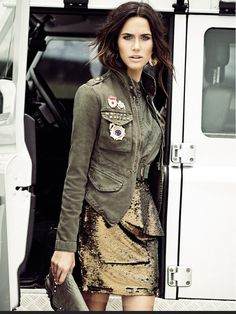 Vogue Brasil - military glam: army green + gold
