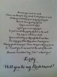 How did you ask your Bridesmaids    wedding Photo234445678 You Ask 83561aad5689