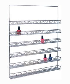 Metal Wall Polish Rack - http://www.hollywoodnailsupply.com/product.php?productid=16254&cat=282&page=1