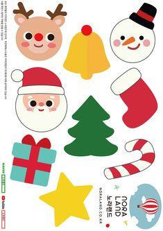 노라랜드 NORA LAND - 크리스마스 페이퍼 토이 도안 Christmas Deco, Printables, Winter, How To Make, Handmade, Xmas, Foyer Ideas, Christmas Decor, Winter Time