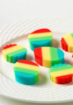 Rainbow JIGGLERS – What treat wiggles and jiggles and is sure to make them giggle? These fun and colorful JIGGLERS made from vanilla yogurt and JELL-O in a rainbow of flavors.