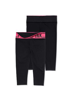Reversible Ultimate Yoga Crop Leggings PINK