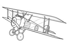 vintage airplane coloring pages - Printable Kids Colouring Pages