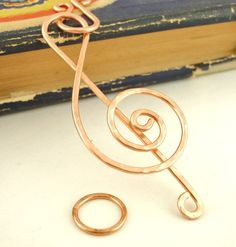 Handmade Jumbo G Clef Pendant or Clasp Set - Hammered in Your Choice of Metals Handmade Jewelry Findings, Handmade Jewelry Designs, Wire Jewelry, Unique Jewelry, Jewellery, Jewelry Supply Store, Jewelry Supplies, Wire Clasp, Mixed Metal Jewelry