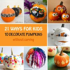 21 ways for kids to decorate pumpkins without carving