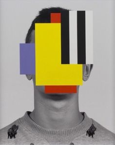 I love these abstract interventions on portrait photos realized by the Canadian novelist, visual artist and designer Douglas Coupland. Magritte, Douglas Coupland, Surrealism Photography, Abstract Drawings, Op Art, Graphic Design Illustration, Collage Art, Collages, Creative Design