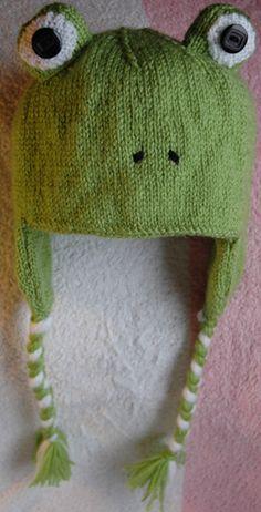 Frog hat knitting pattern