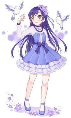 She look like umi 😂😂 💖🌸🌸 💙💙 Love live! Loli Kawaii, Kawaii Anime Girl, Anime Art Girl, Anime Girls, Manga Girl, Anime Girl Dress, Anime Neko, Manga Anime, Pretty Anime Girl