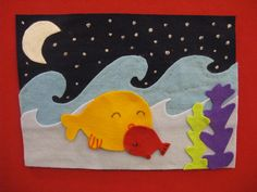 Read Rabbit Read:  Bedtime Kiss for Little Fish Flannel Board by Sarah