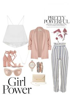 """""""Girl Power"""" by kpescobar ❤ liked on Polyvore featuring River Island, A.L.C., Topshop, Raye, Charlotte Russe, Kendra Scott and Jessica Carlyle"""