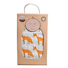 Amazon.com : Zebi Organic Swaddle Blanket in Blue Whale : Nursery Swaddling Blankets : Baby