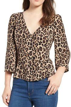 button front print blouse (regular & plus size) tops blo Big Fashion, Autumn Fashion, Fashion Outfits, Womens Fashion, Fashion Trends, Workwear Fashion, Fashion Blogs, Blouse Styles, Blouse Designs