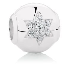 Star Charm With Cubic Zirconia In Sterling Silver - Emma & Roe