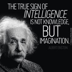 """""""The true sign of intelligence ..."""" -Albert Einstein"""