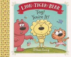 Tiger and Bear try to entice Lion to stop painting his masterpiece and play a game of tag instead.