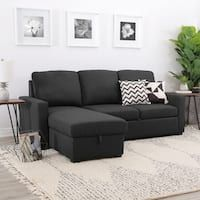 The casual chic Abbyson Newport Chaise Sofa Sectional is perfect for your multi-use living room. This dapper sectional is upholstered in sophisticated. Sectional Sleeper Sofa, U Shaped Sectional, Chaise Sofa, Upholstered Sofa, Sofa Bed, Small Sectional, Fabric Sectional, Apartment Living, Apartment Ideas