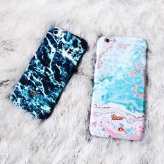 """""""Jade"""" and """"Candy"""" Both #Beautiful marble printed phone case. #palettoshop…"""