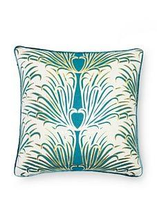 Teal peacock pillow