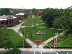 View from the top of Babson Library