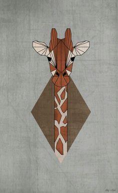 geometric giraffe - Google zoeken