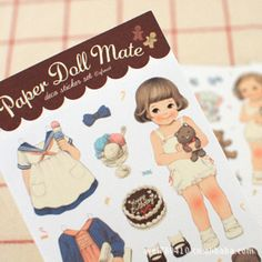 DIY Colorful paper doll mate  kawaii Stickers Diary Planner Journal Note Diary Paper Scrapbooking Albums PhotoTag #Affiliate