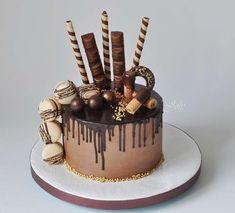 Čokoládový Drip Cake torta. Autorka: joly. Čokoládové torty, narodeninová torta. Tortyodmamy.sk.