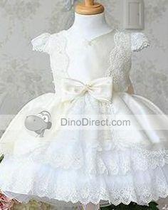 Атласная бантом Слоистые Детские платья - DinoDirect.com