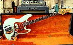 1963 FENDER JAZZ BASS -  SURF GREEN REFINISH - ANDY BAXTER BASS  #Fender