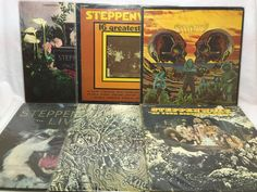 Steppenwolf Lot of 6 Vinyl Record Albums - Monster, Live, 7, Birthday Party, RIP