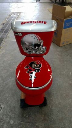 Fan Has Ohio State Toilet With Michigan Bowl Because